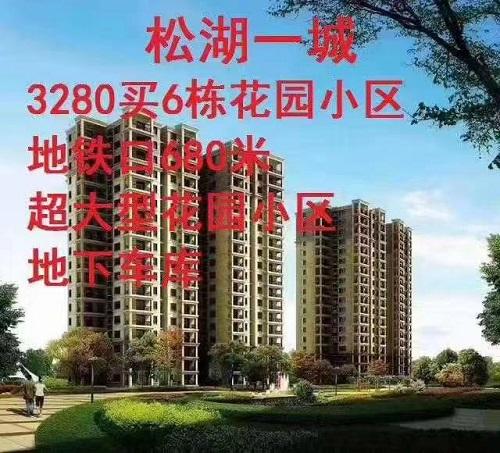 3280买大朗6栋花园小区【松湖一城】地铁口统建房